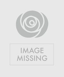 Mixed spring flowers in a clear glass vase