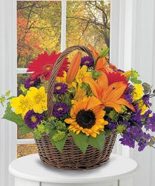 sunflowers will be substituted with yellow gerberas