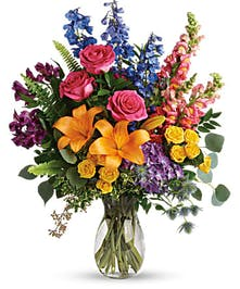 rainbow colored arrangement