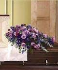 Sympathy Casket Lid Cover Shades of Purple