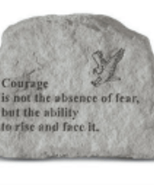 is not the absence of fear....