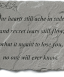in saddness...